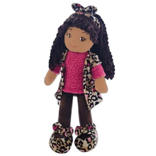 GirlznDollz Emme Pink Leopard Fabric Doll