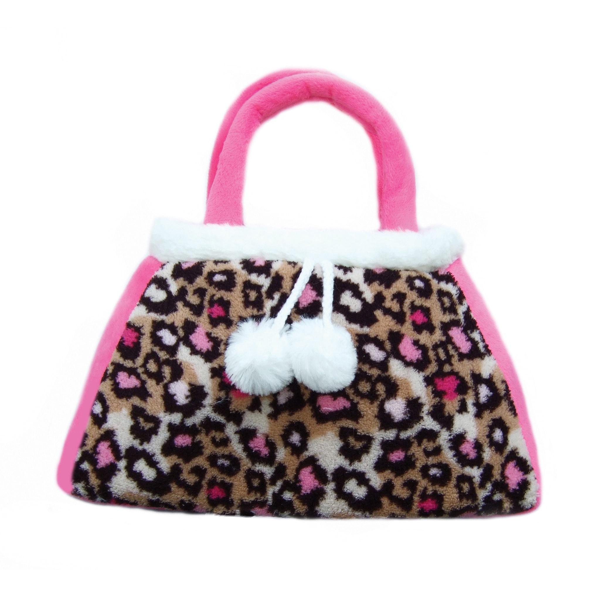 "GirlznDollz Hot Pink Leopard Toddler Purse (12""W, Pink, l..."