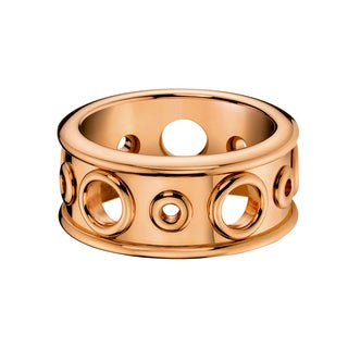 Calvin Klein Women's Notch Rose Gold PVD-coated Stainless Steel Fashion Ring