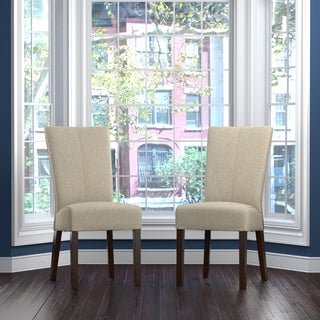 Portfolio Trinidad Barley Tan Linen Rattan Back Dining Chair (Set of 2)