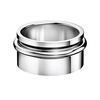 Calvin Klein Men's Twice Stainless Steel Fashion Ring