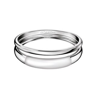 Calvin Klein Women's Ellipse Stainless Steel Fashion Bracelet - Silver