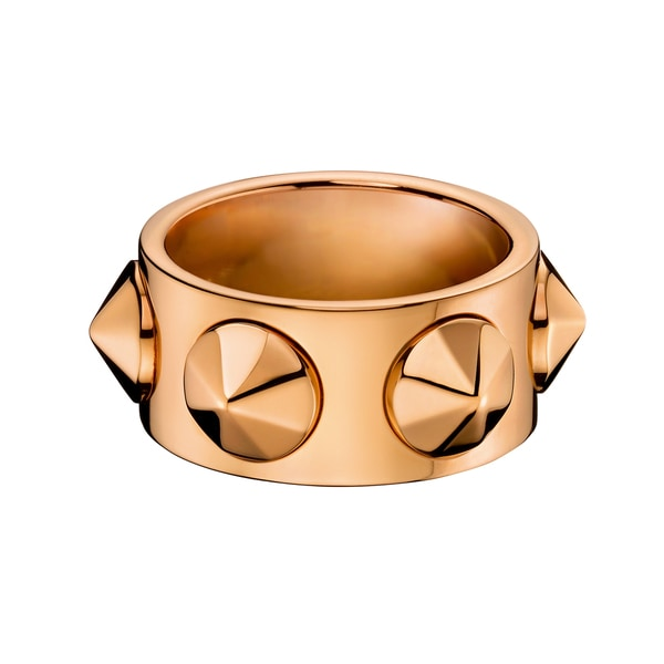 272f2b818d Shop Calvin Klein Women s Studs Leather Stainless Steel Rose Gold PVD-coated  Fashion Ring - On Sale - Free Shipping On Orders Over  45 - Overstock.com -  ...