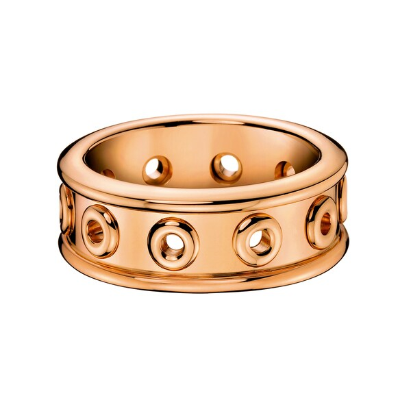 68bacf5d56 Shop Calvin Klein Women s Notch Stainless Steel Rose Gold PVD Coated Fashion  Ring - On Sale - Free Shipping On Orders Over  45 - Overstock.com - 13043401