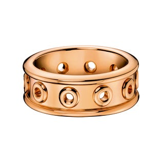 Calvin Klein Women's Notch Stainless Steel Rose Gold PVD Coated Fashion Ring