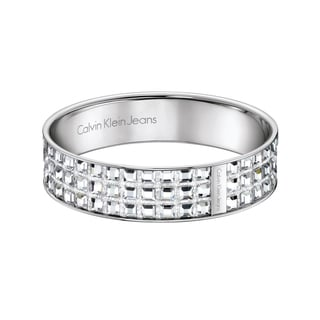 Calvin Klein Women's Stainless Steel and Crystal Glint Fashion Bracelet