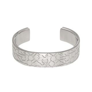 Calvin Klein Women's Stainless Steel Logo Fashion Bracelet