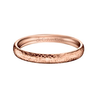 Calvin Klein Women's Dawn Stainless Steel Rose Gold PVD Coated Fashion Bracelet
