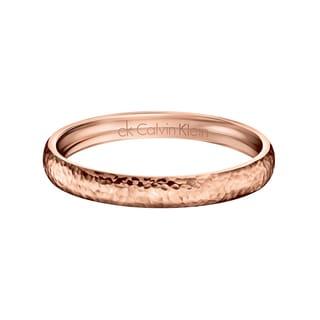 Calvin Klein Women's Dawn Stainless Steel Rose Gold PVD Coated Fashion Bracelet