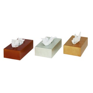Elegant Wood Tissue Box - Set of 3 Assorted Colors