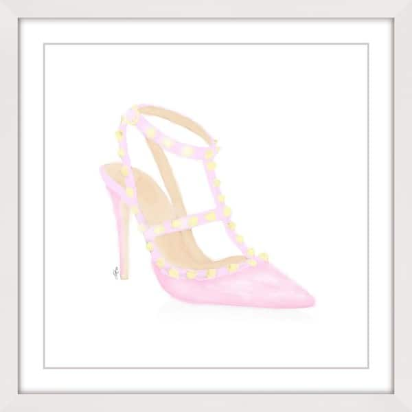 Marmont Hill - 'Sweet Pink Pump' Framed Painting Print - Multi