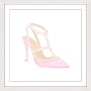 Marmont Hill - 'Sweet Pink Pump' Framed Painting Print