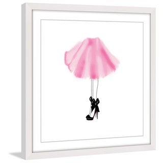 Marmont Hill - 'Pink Skirt' Framed Painting Print