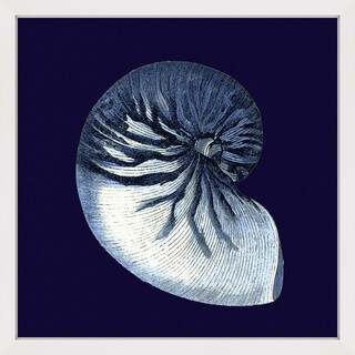 Marmont Hill - 'Indigo Shell VII' Framed Painting Print