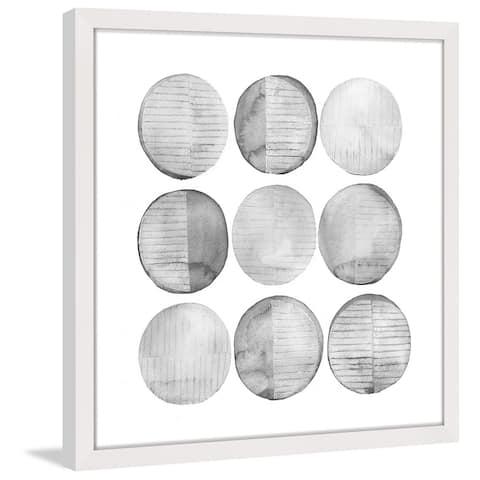 Marmont Hill - Handmade Soft Circles I Framed Print