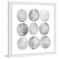 Marmont Hill - 'Soft Circles I' Framed Painting Print