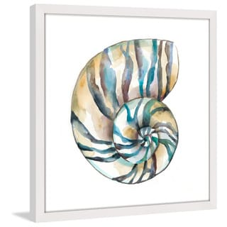 Marmont Hill - 'Aquarelle Shells II' Framed Painting Print