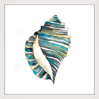 Marmont Hill - 'Aquarelle Shells I' Framed Painting Print