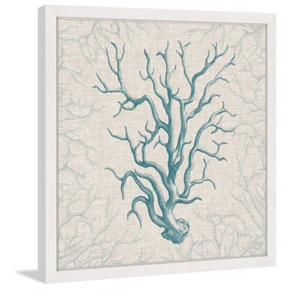 Marmont Hill - 'Coral Motif II' Framed Painting Print