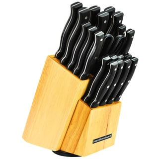 Hamilton Beach 22-Piece Cutlery Set with Wood Block