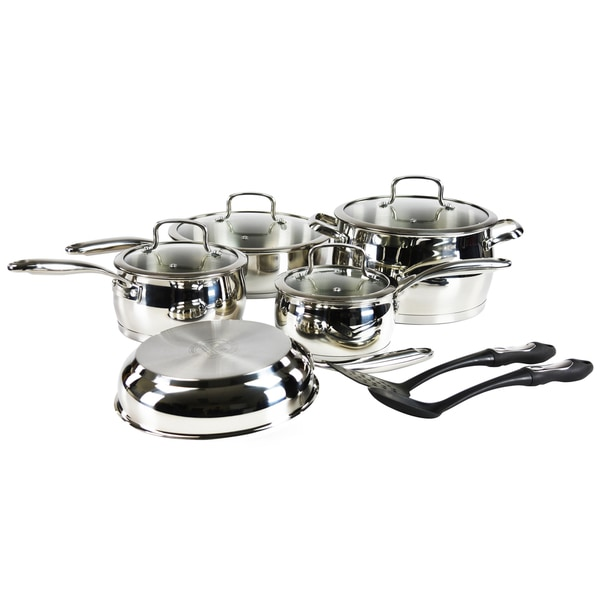 Hamilton Beach Silver Stainless Steel Bell-Shaped 11-piece Cookware Pack