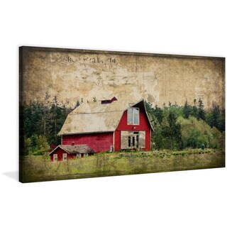 Marmont Hill - 'Widbey's Barn III' Painting Print on Wrapped Canvas