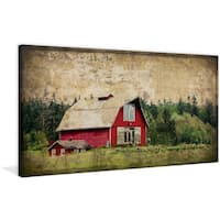 Marmont Hill - 'Widbey's Barn III' Painting Print on Wrapped Canvas - Multi-color
