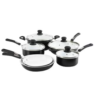 Hamilton Beach Contemporary Aluminum Ceramic Nonstick 10-piece Cookware Pack|https://ak1.ostkcdn.com/images/products/13043593/P19783039.jpg?impolicy=medium