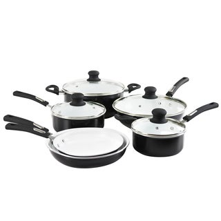 Hamilton Beach Contemporary Aluminum Ceramic Nonstick 10-piece Cookware Pack
