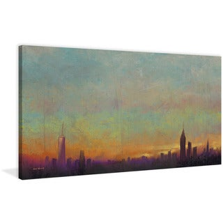 Marmont Hill - 'Skyline Sunset' by Rick Novak Painting Print on Wrapped Canvas