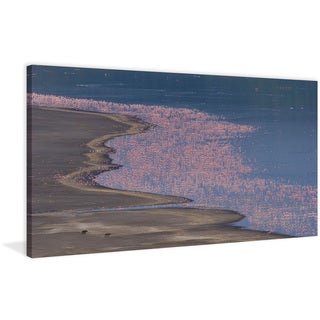Marmont Hill - 'Flamingo Sea' Painting Print on Wrapped Canvas