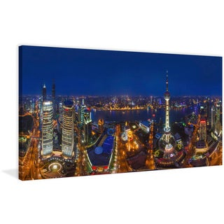 Marmont Hill - 'Shanghai Night' Painting Print on Wrapped Canvas