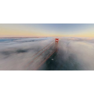 Marmont Hill - 'Foggy Bridge' Painting Print on Wrapped Canvas
