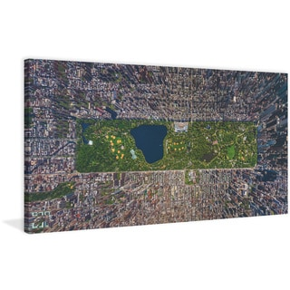 Marmont Hill - 'USA NY Aerial' Painting Print on Wrapped Canvas