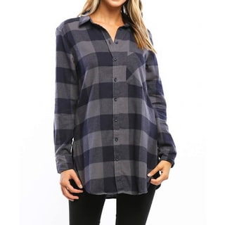 Women's Multicolor Brushed Cotton Buffalo Checker Top