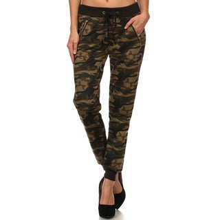 Women's Camouflage Zipper Pants