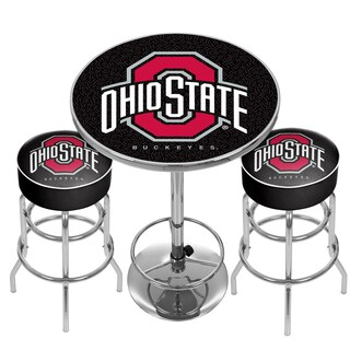 Ohio State University Game Room Combo - 2 Bar Stools and Table