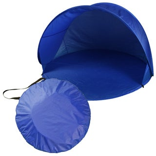 TrailWorthy Blue Polyester Pop-up Beach Tent