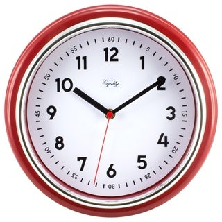 Equity by La Crosse 20867 11.5 inch Red Retro Wall Clock
