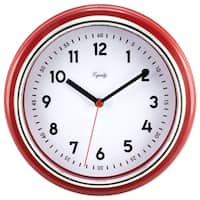 Red 11.5-inch Retro Wall Clock
