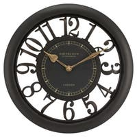 Equity by La Crosse 20858 Brown 11-1/2-inch Floating Dial Wall Clock