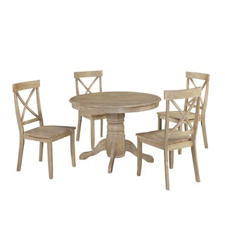 Classic 5-Piece Dining Set in White Wash Finish by Home Styles