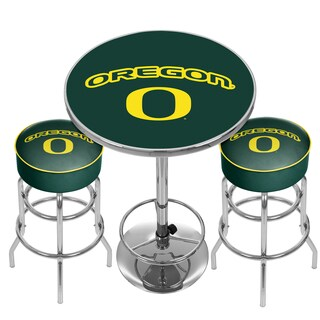 University of Oregon Game Room Combo - 2 Bar Stools and Table