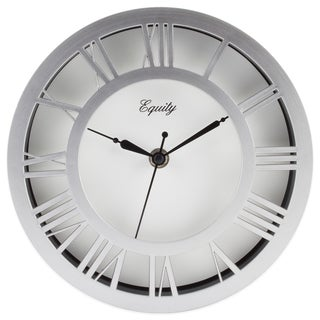 Equity by La Crosse 20862 Nickel Plastic 8-inch Wall Clock