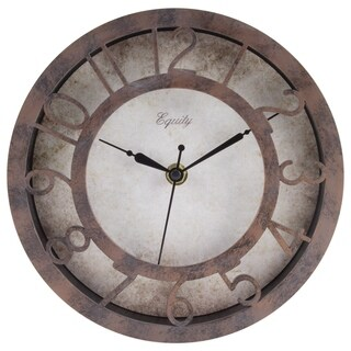 Equity by La Crosse 20861 Patina Plastic 8-inch Wall Clock