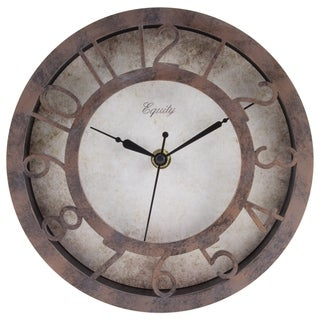 Equity by La Crosse 20861 8-inch Patina Analog Wall Clock