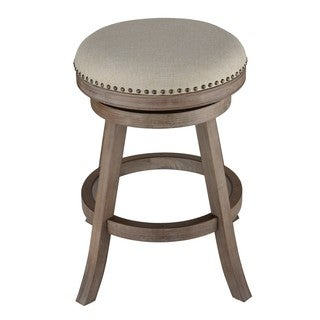 Cortesi Home Sadie Fabric and Driftwood Backless Swivel Counter Stool |//ak1  sc 1 st  Overstock.com & Leather Bar u0026 Counter Stools - Shop The Best Deals for Nov 2017 ... islam-shia.org