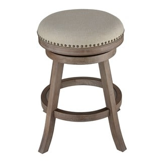 Cortesi Home Sadie Fabric and Driftwood Backless Swivel Counter Stool  sc 1 st  Overstock.com & Leather Counter Height - 23-28 in. Bar u0026 Counter Stools - Shop ... islam-shia.org