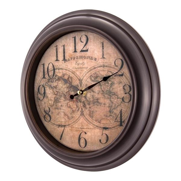 Shop equity by la crosse 20837 12 inch world map quartz wall clock equity by la crosse 20837 12 inch world map quartz wall clock gumiabroncs Images