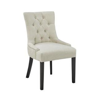 Modern Beige Uphosltered Tufted Dining Room Chair Set